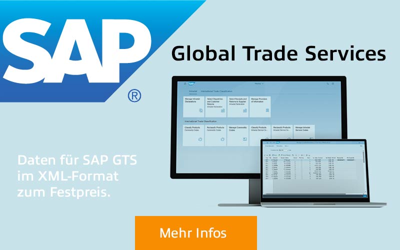 SAP - Global Trade Services. Daten im XML-Format zum Festpreis.